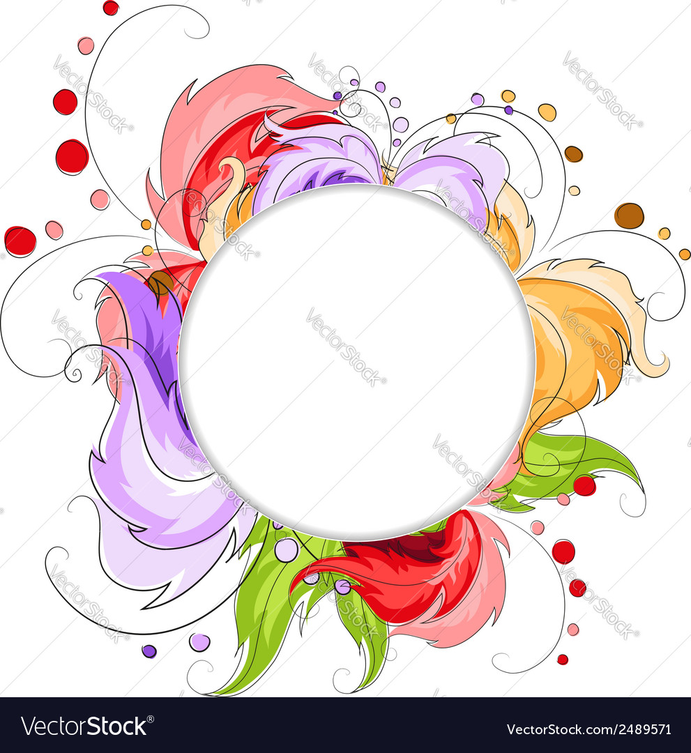 Hand drawn abstract flowers vector | Price: 1 Credit (USD $1)