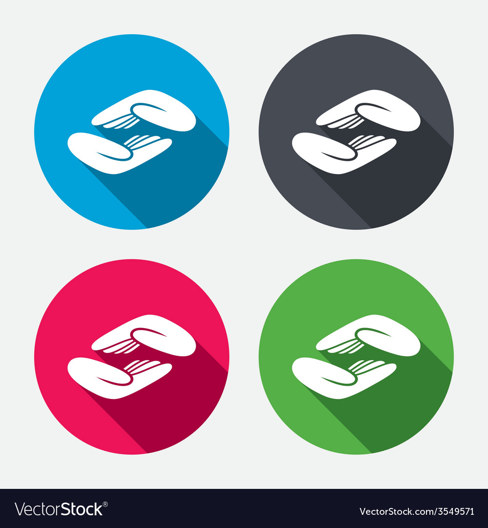 Helping hands sign icon charity or endowment vector | Price: 1 Credit (USD $1)