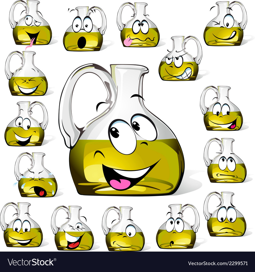Olive oil bottle cartoon vector | Price: 1 Credit (USD $1)