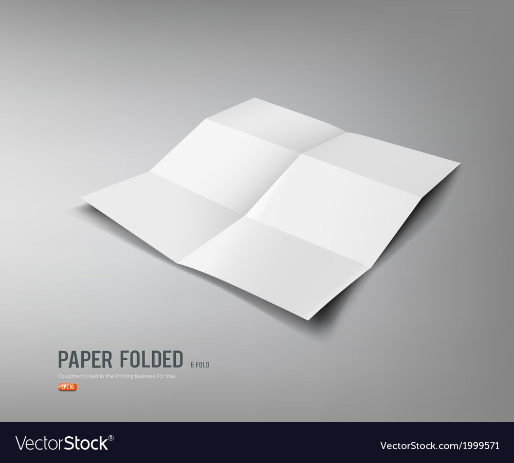 Paper folded six fold for business design vector | Price: 1 Credit (USD $1)