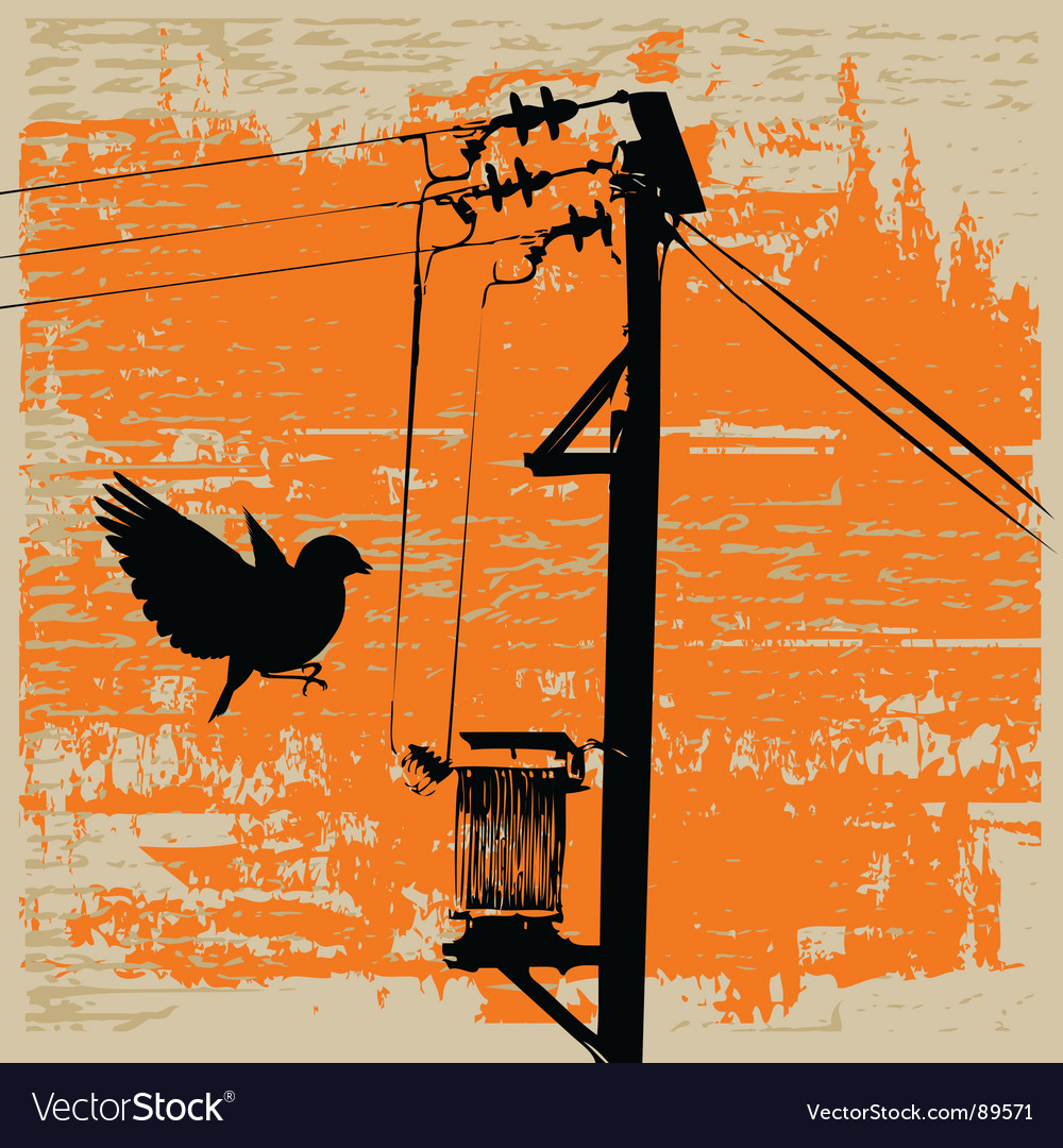 Pylon grunge vector | Price: 1 Credit (USD $1)