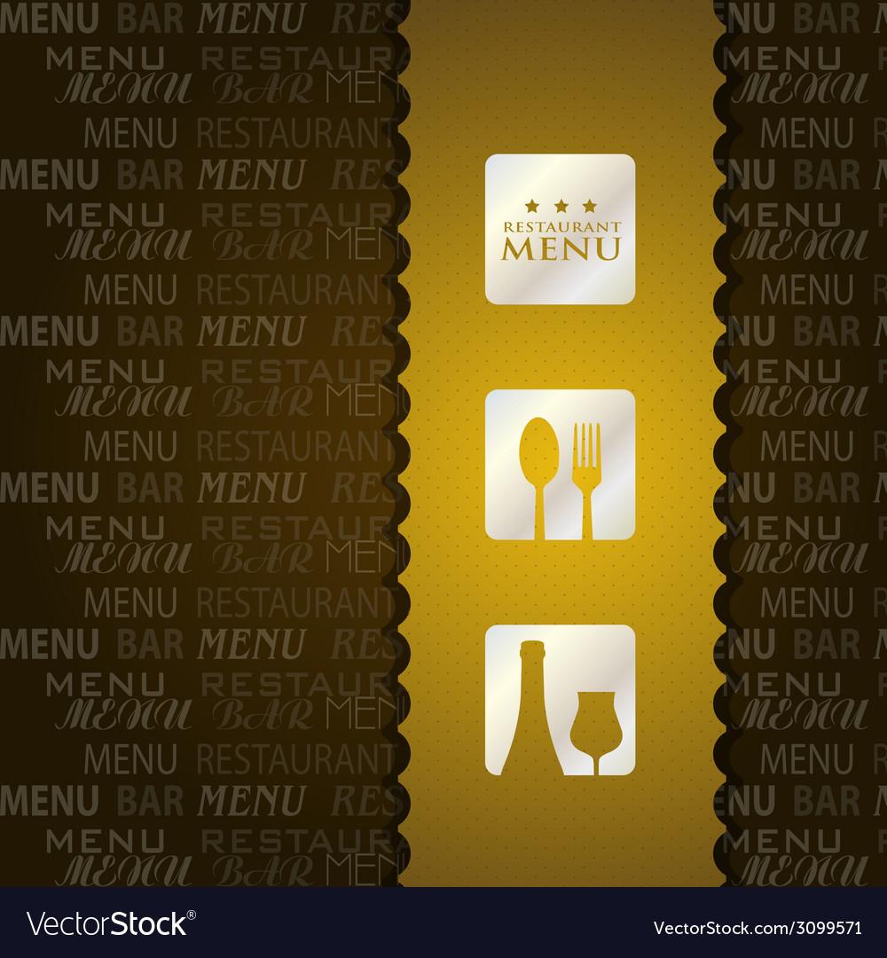 Restaurant menu presentation in brown background vector | Price: 1 Credit (USD $1)