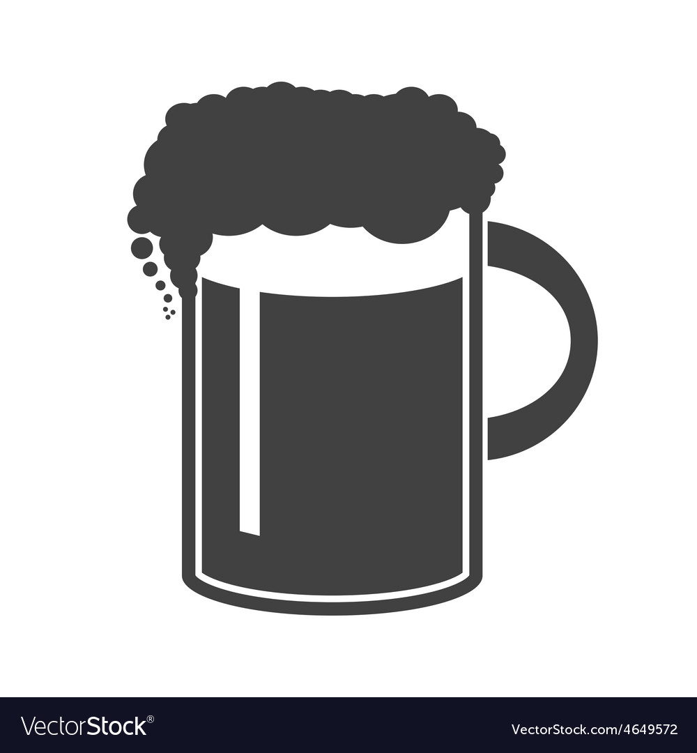 Beer in mug icon on white vector | Price: 1 Credit (USD $1)