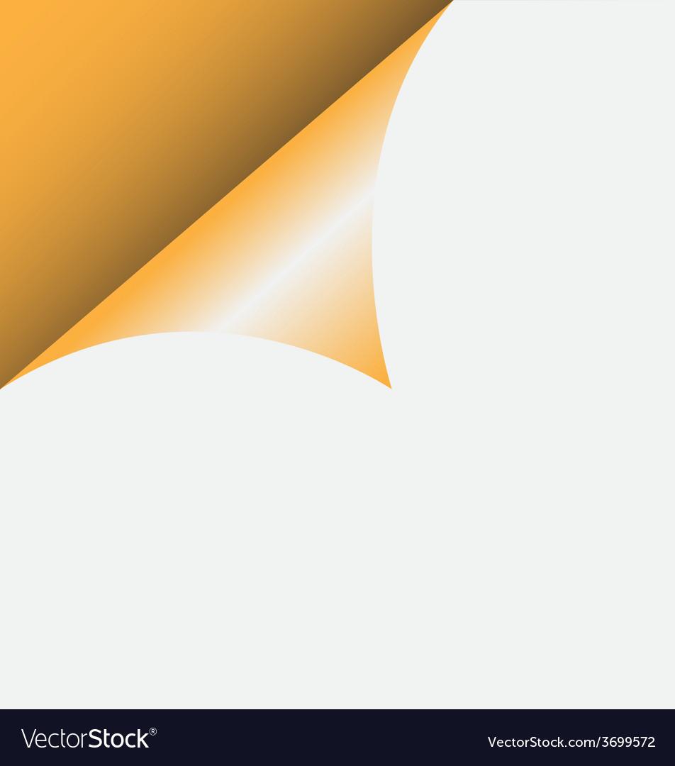 Curled corner vector | Price: 1 Credit (USD $1)
