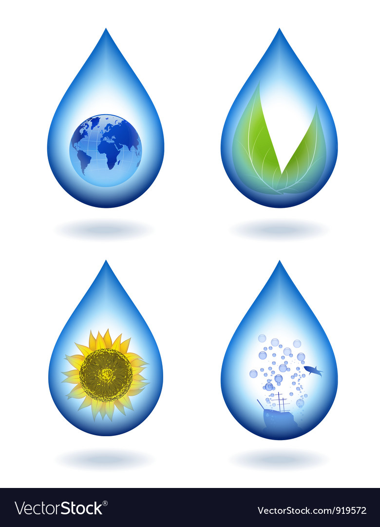 Drops of water content vector | Price: 3 Credit (USD $3)
