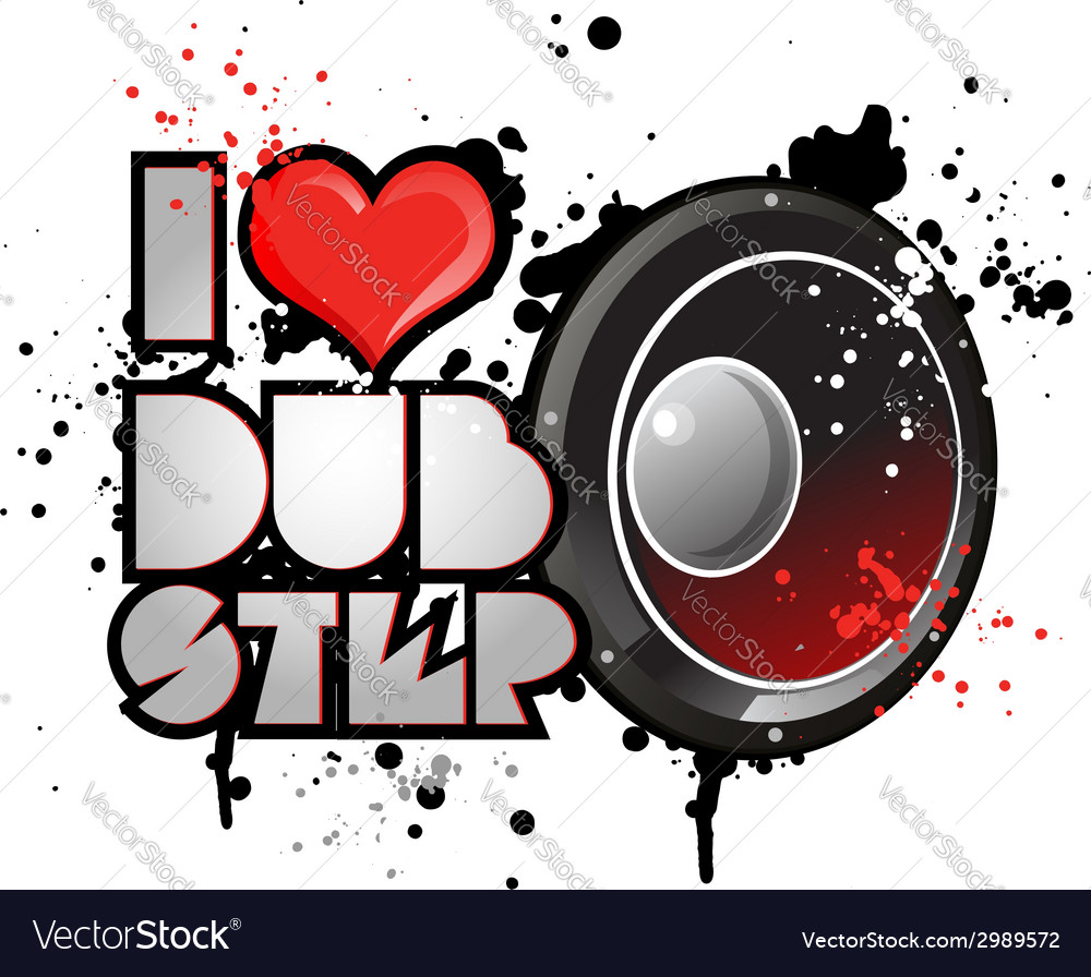 Dubstep background vector | Price: 1 Credit (USD $1)