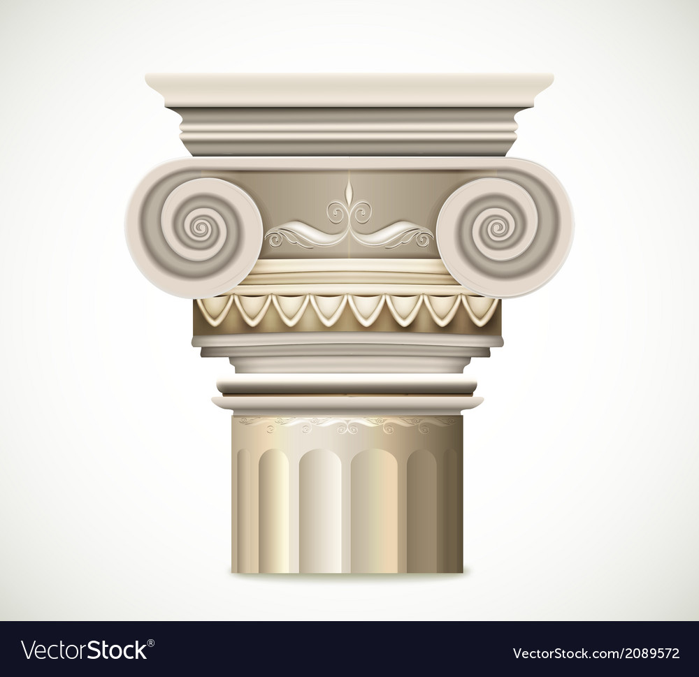 Greek column isolated on white background vector | Price: 1 Credit (USD $1)