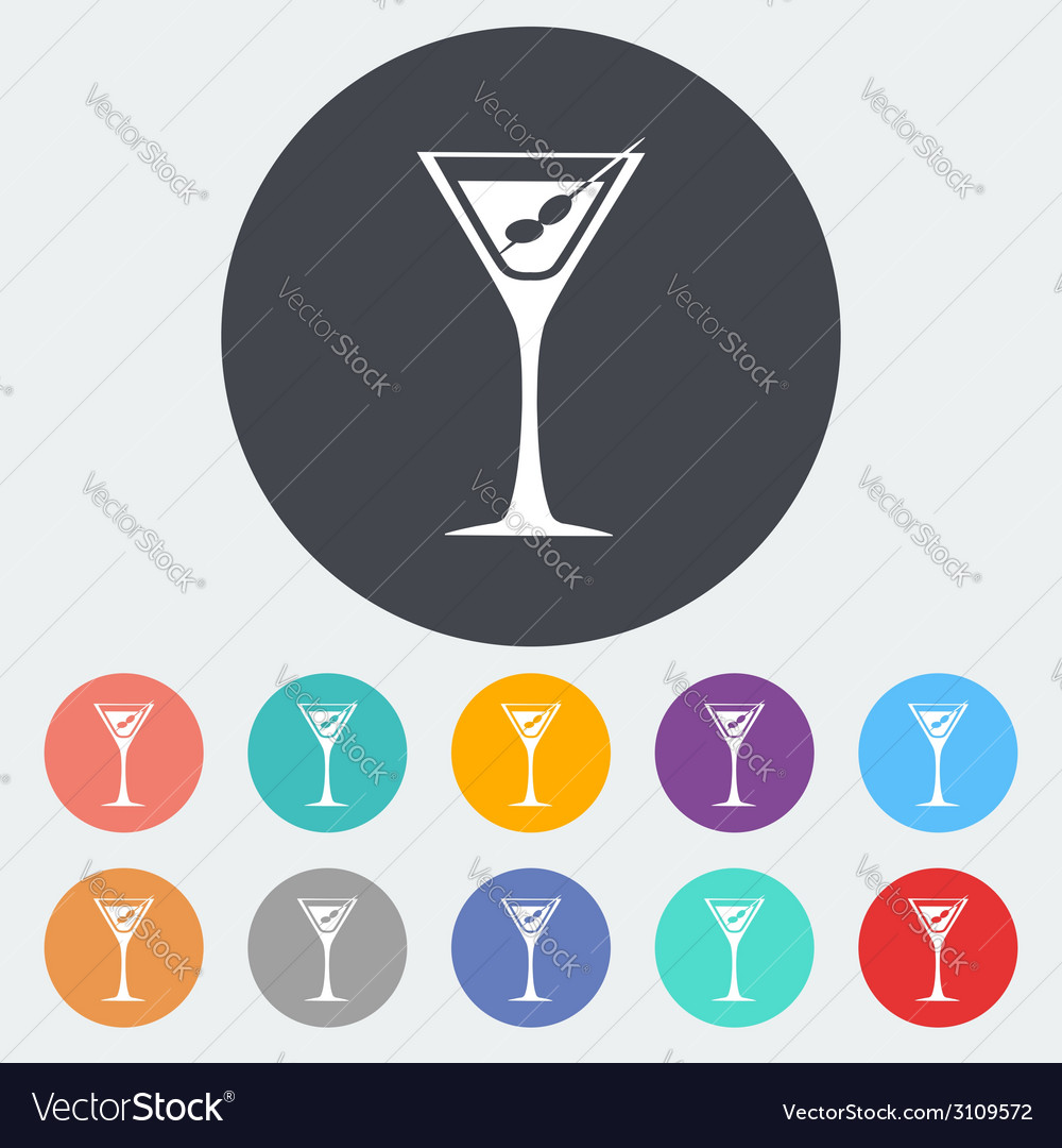 Martini single icon vector | Price: 1 Credit (USD $1)