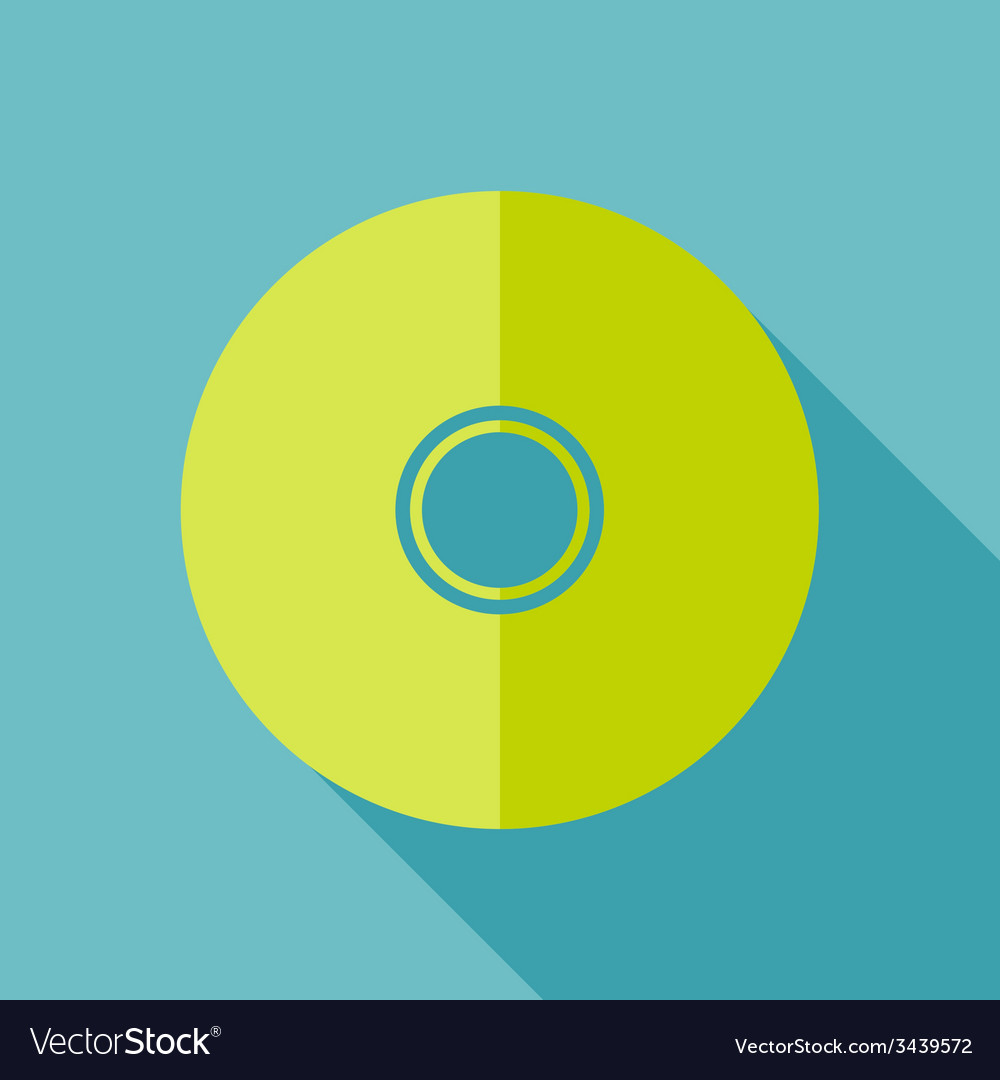 Modern flat design concept icon cd or dvd computer vector | Price: 1 Credit (USD $1)