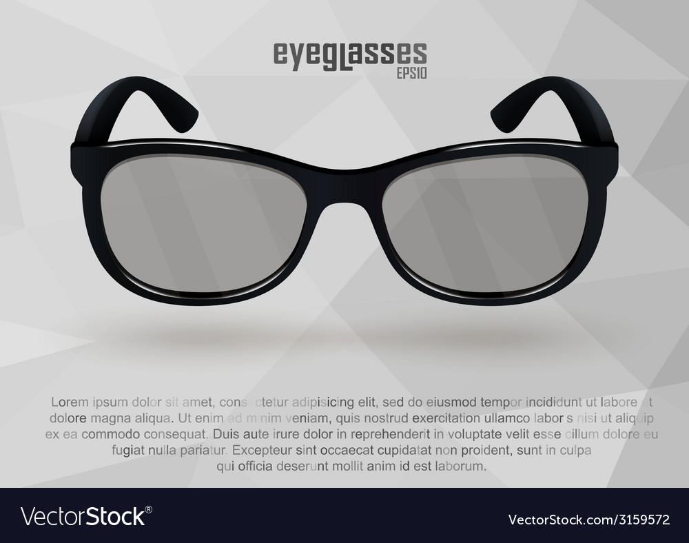 Strict eyeglasses in black and white vector | Price: 1 Credit (USD $1)
