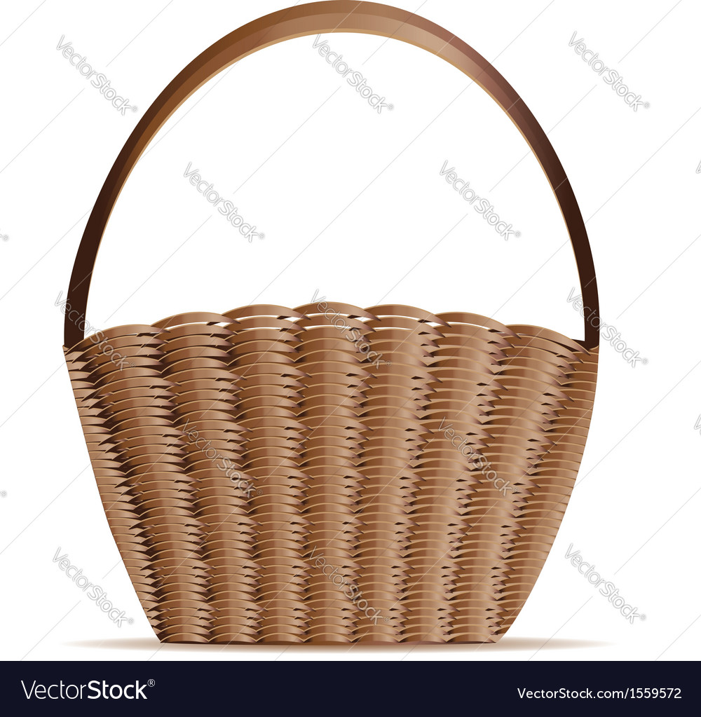 Woven basket vector | Price: 1 Credit (USD $1)
