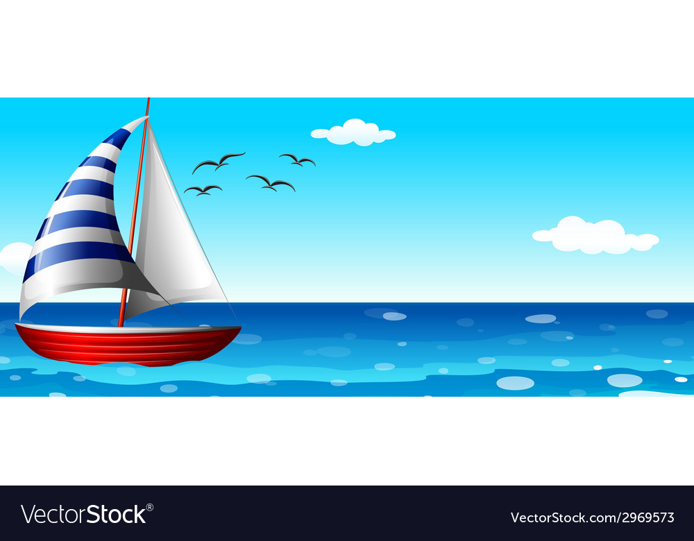 A ship in the ocean vector | Price: 1 Credit (USD $1)