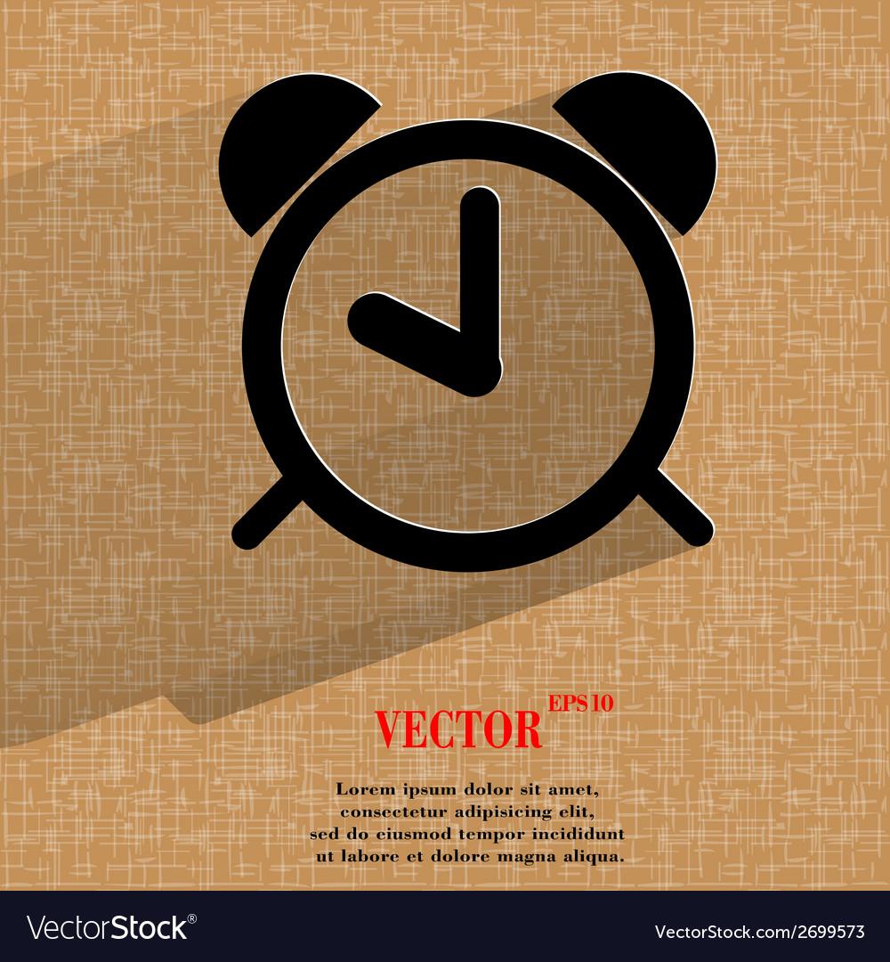 Alarm clock flat modern web design on a flat vector | Price: 1 Credit (USD $1)