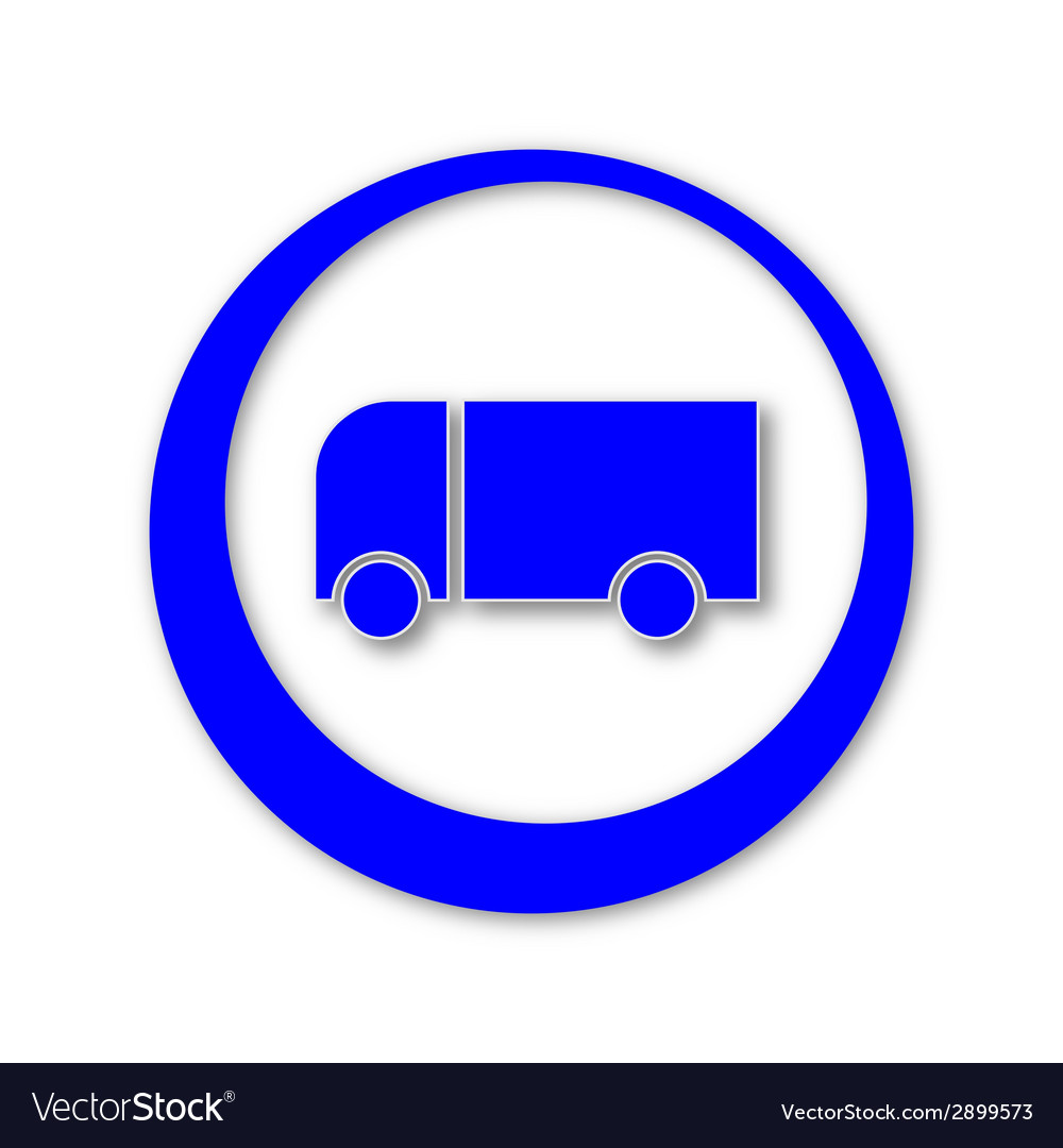 Blue truck icon with shadows vector | Price: 1 Credit (USD $1)
