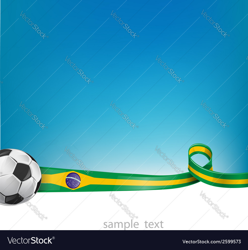Brazil background with soccer ball vector | Price: 1 Credit (USD $1)