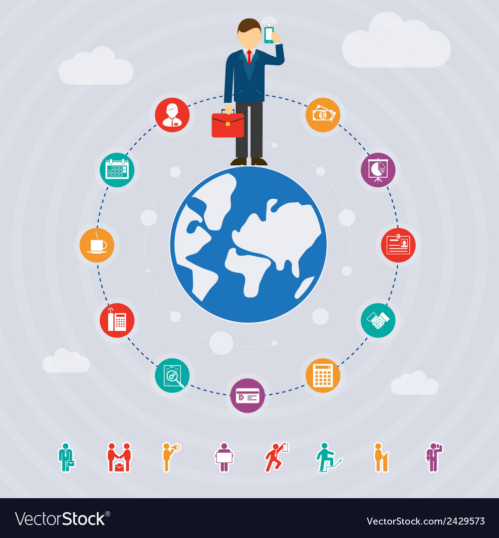 Business around the world vector   Price: 1 Credit (USD $1)