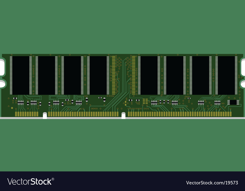 Computer ram memory vector | Price: 1 Credit (USD $1)