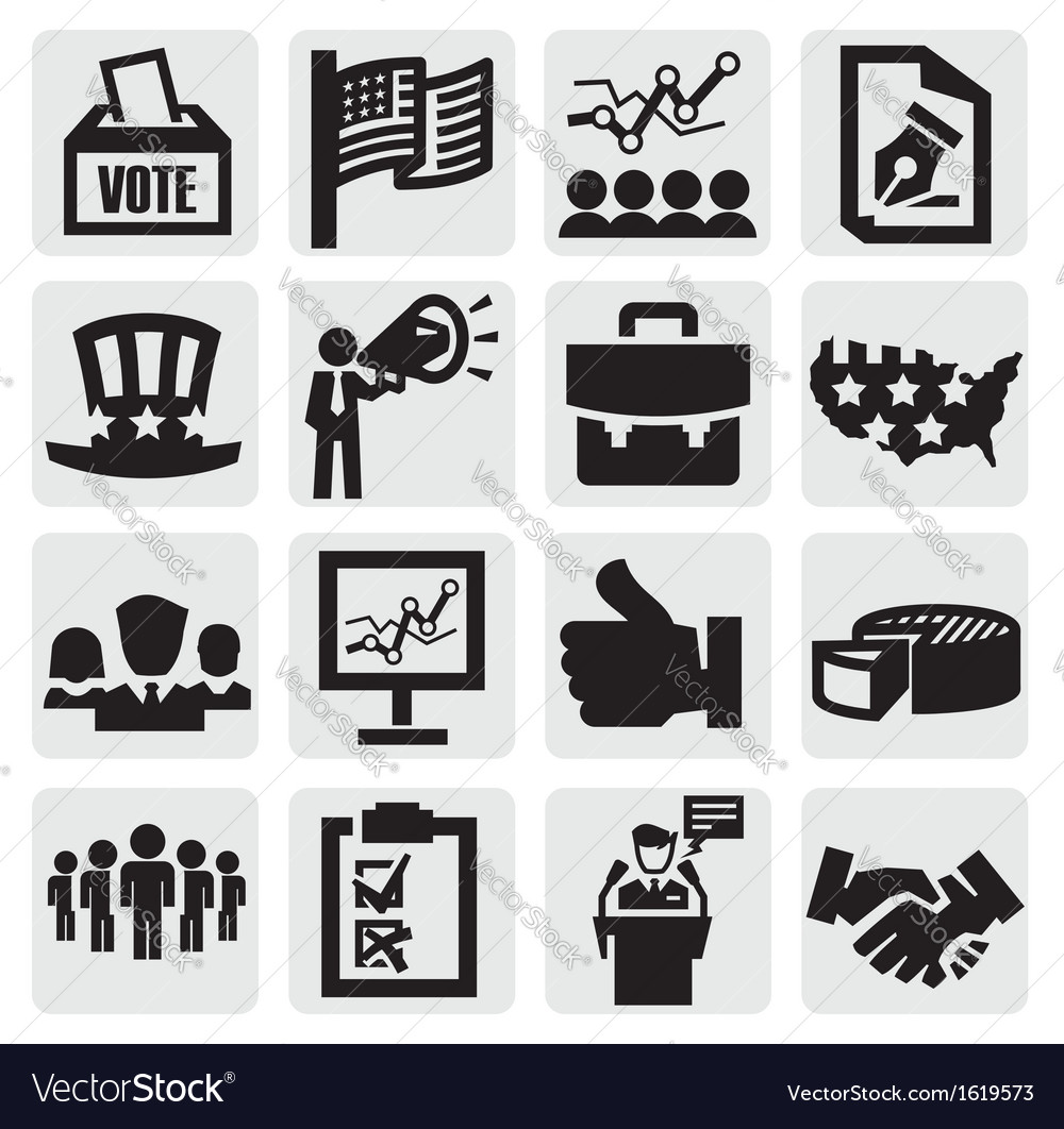Election icons vector | Price: 1 Credit (USD $1)