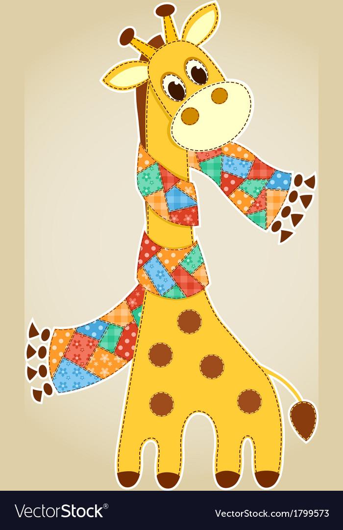 Giraffein in a scarf aplication vector | Price: 1 Credit (USD $1)