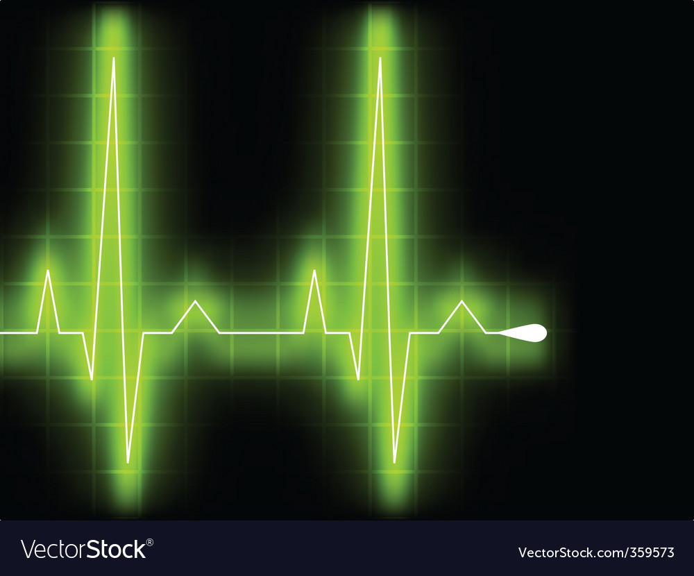 Heart beat graph vector | Price: 1 Credit (USD $1)