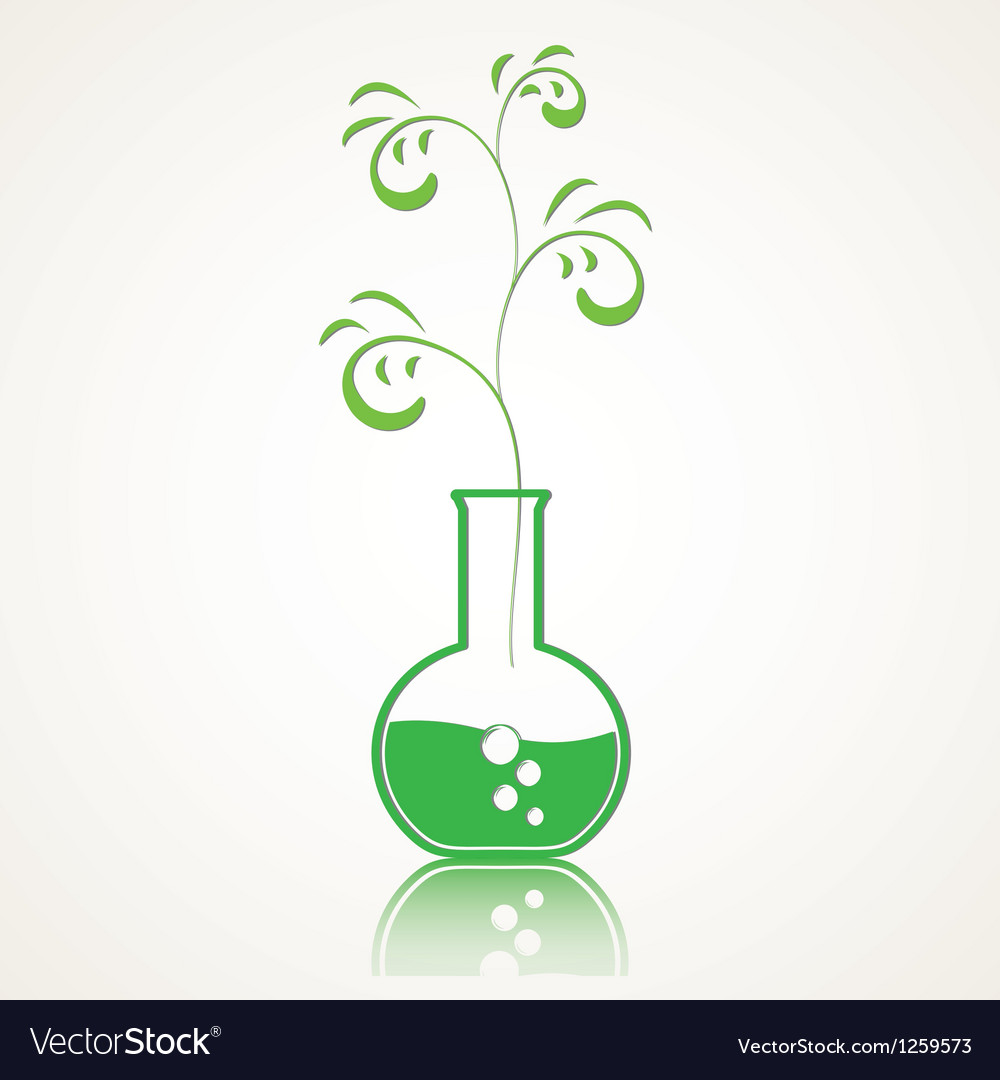 Life from a test tube vector | Price: 1 Credit (USD $1)
