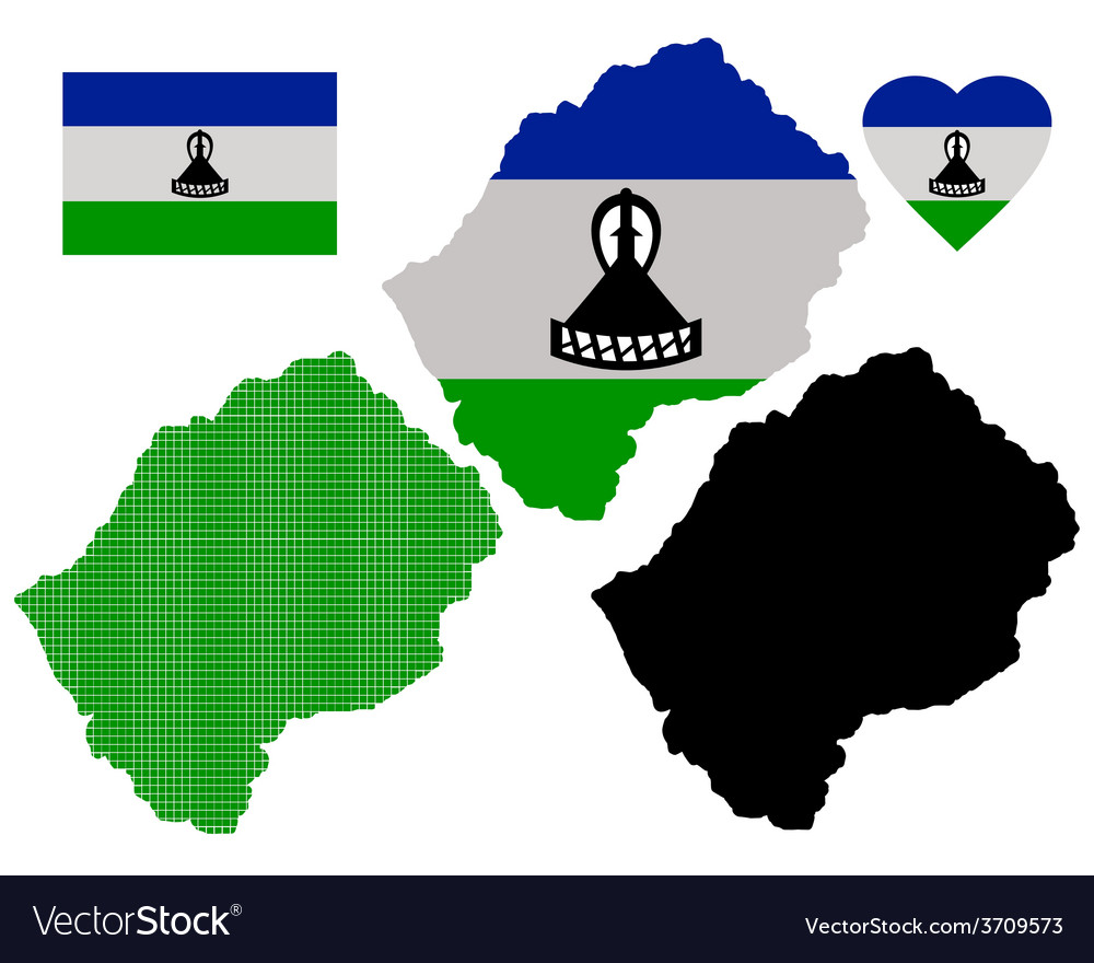 Map of lesotho vector | Price: 1 Credit (USD $1)