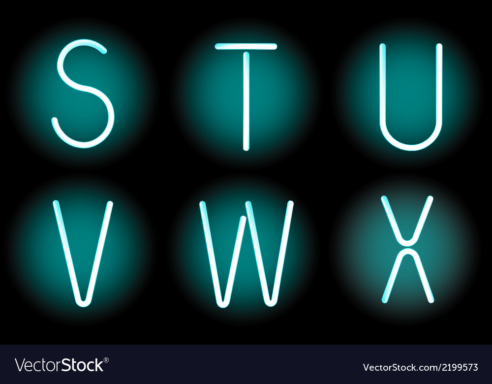Neon letters vector | Price: 1 Credit (USD $1)