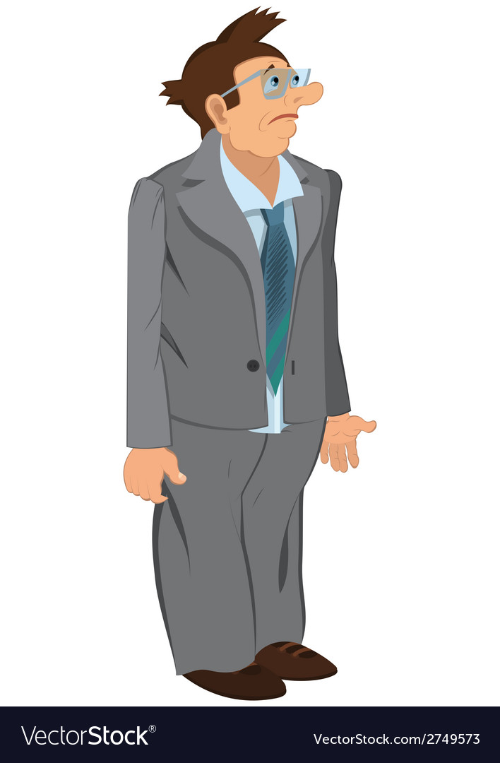 Retro hipster man standing in gray jacket and vector | Price: 1 Credit (USD $1)