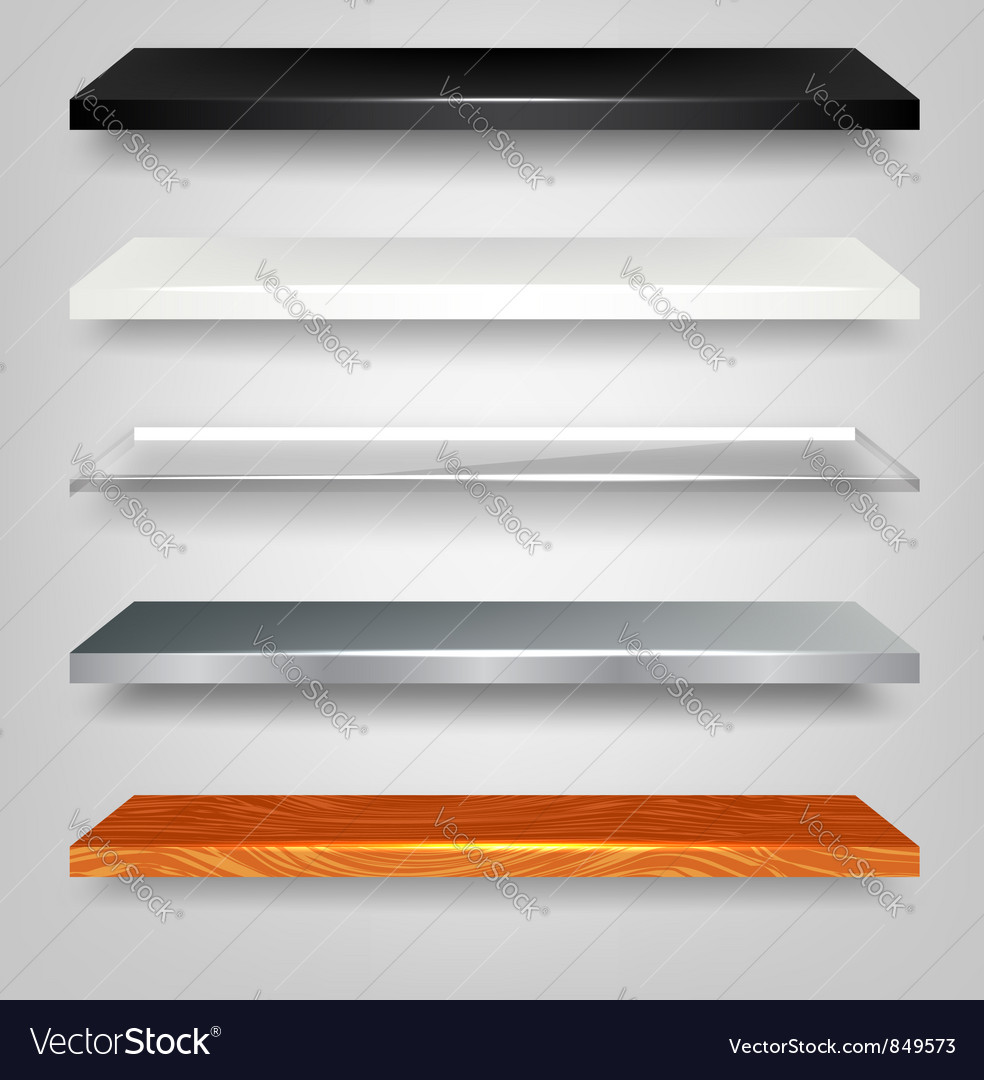 Shelves vector | Price: 1 Credit (USD $1)