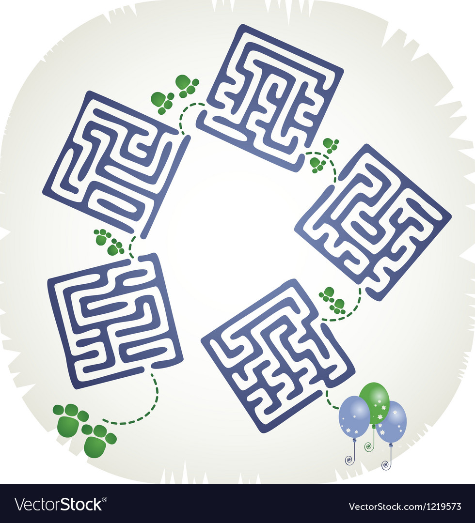 Step maze vector | Price: 1 Credit (USD $1)