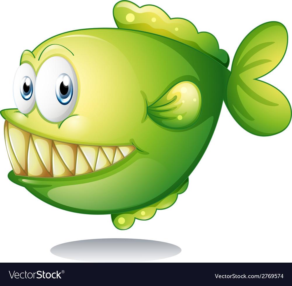 A big green fish vector | Price: 1 Credit (USD $1)