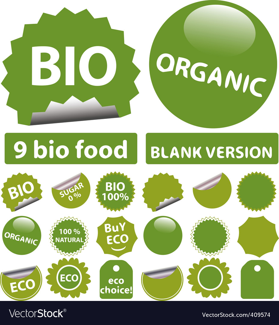 Bio stickers vector | Price: 1 Credit (USD $1)