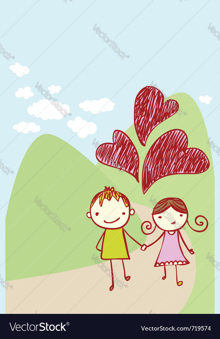 Cute couple card vector | Price: 1 Credit (USD $1)