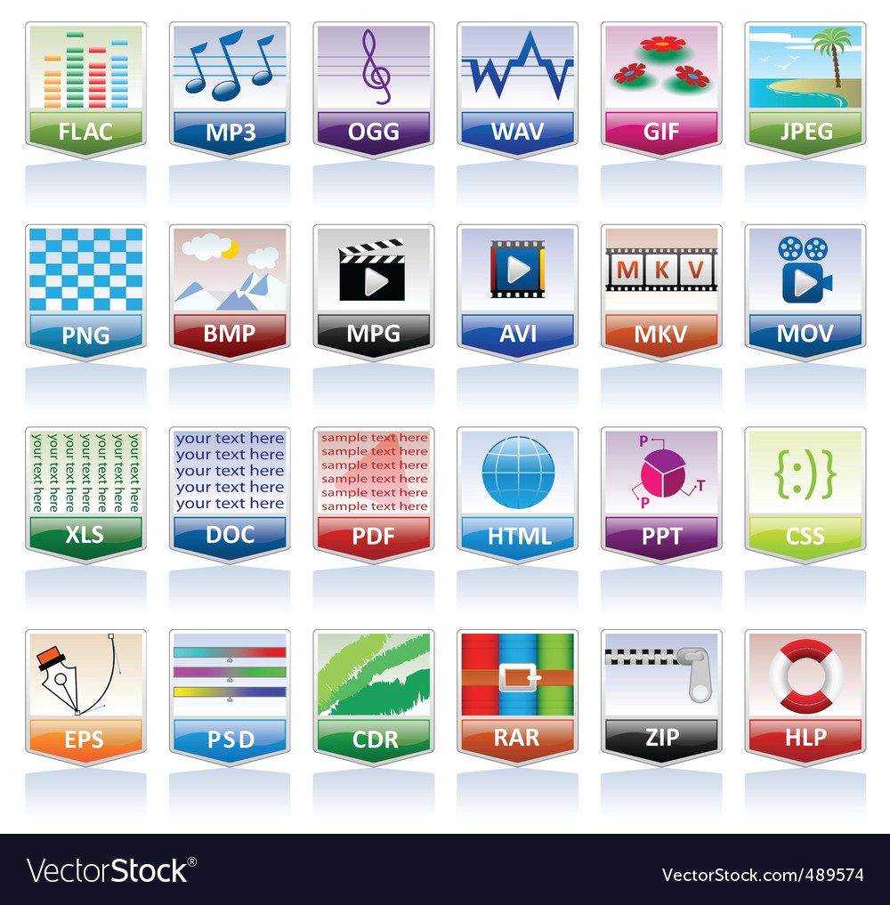 File document icons vector | Price: 3 Credit (USD $3)
