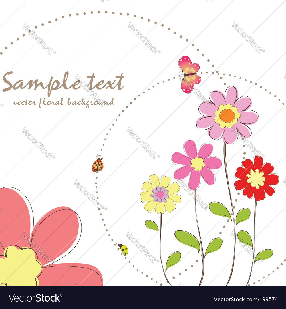 Floral wallpaper pattern vector | Price:  Credit (USD $)