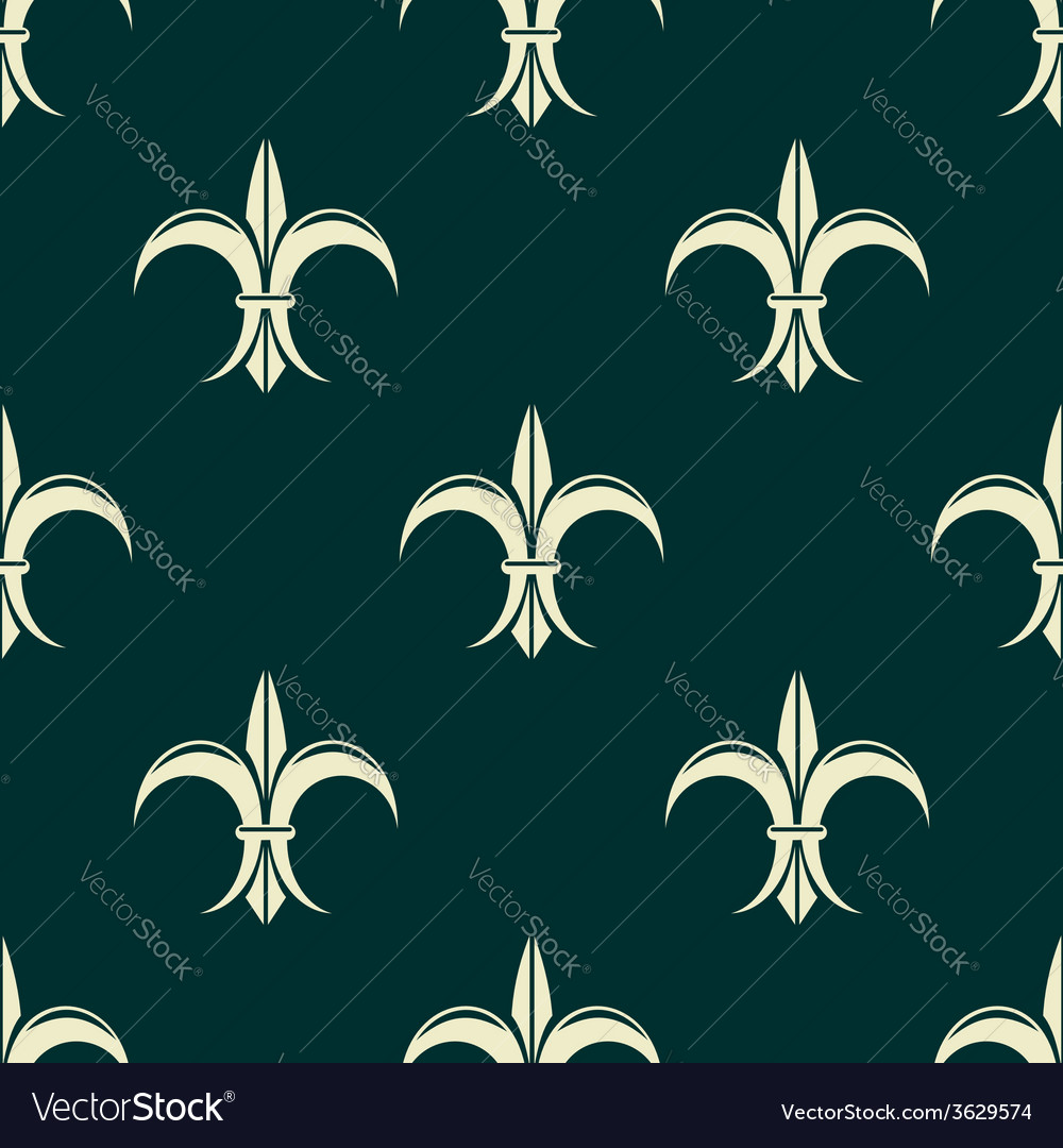 French seamless pattern with fleur de lys flowers vector | Price: 1 Credit (USD $1)