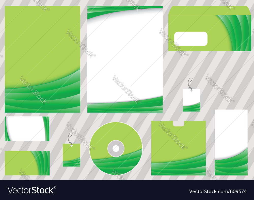 Green business corporate template vector | Price: 1 Credit (USD $1)