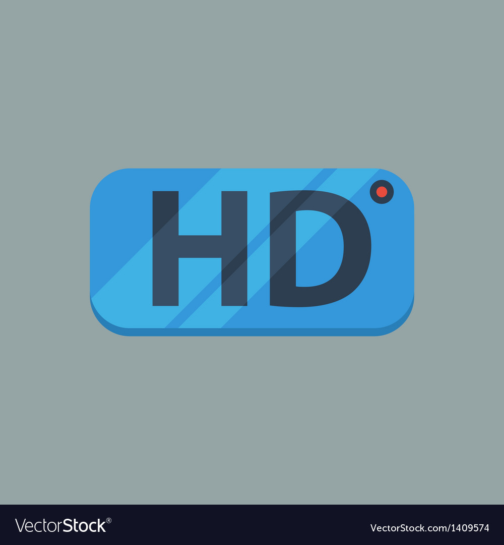 Hd flat icon vector | Price: 1 Credit (USD $1)