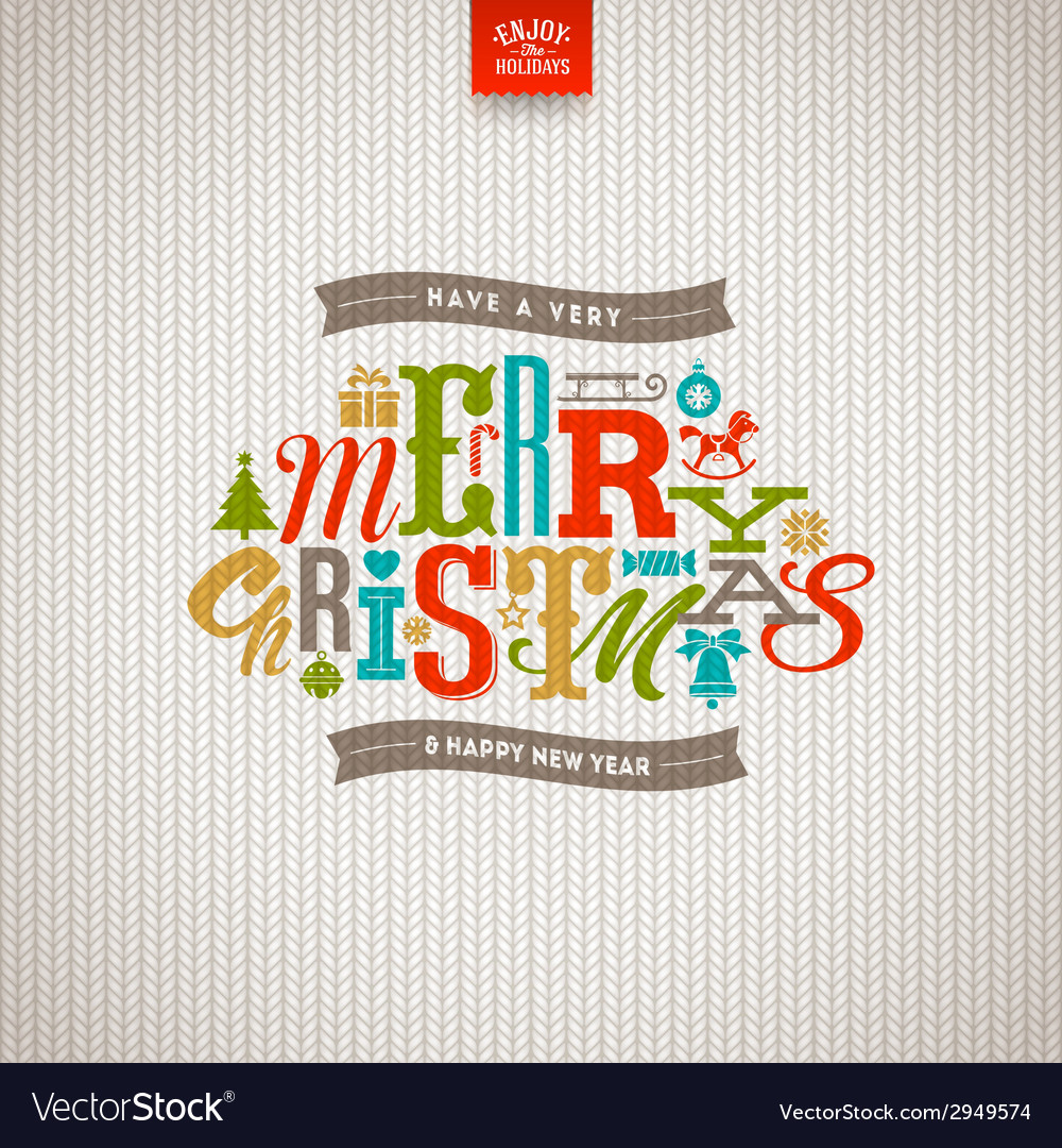 Multicolored christmas type design vector | Price: 1 Credit (USD $1)