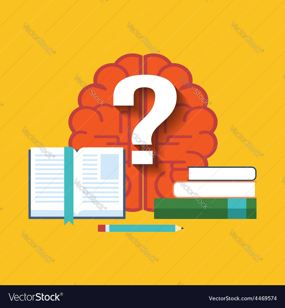 Searching for answers learning concept flat design vector | Price: 1 Credit (USD $1)