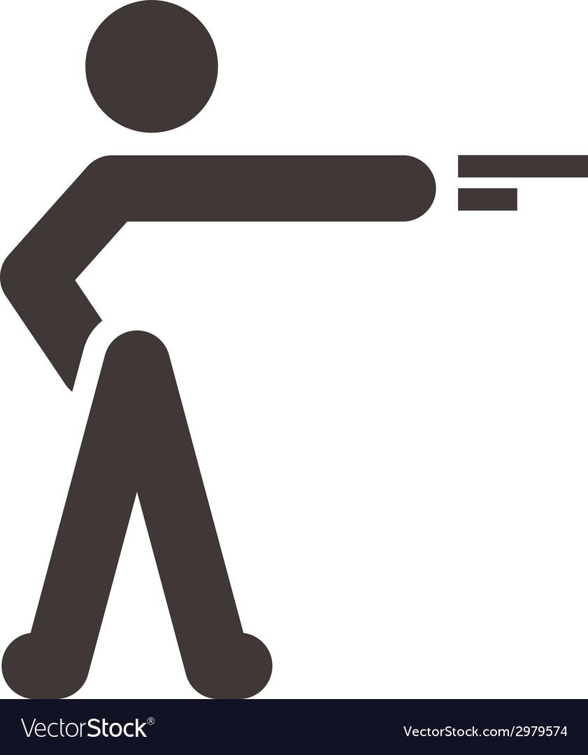 Shooting icon vector   Price: 1 Credit (USD $1)