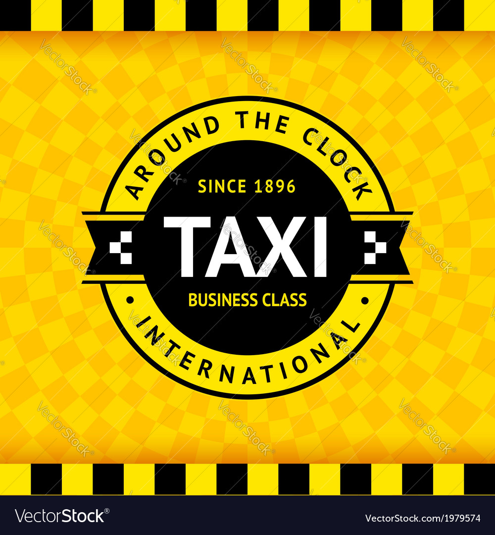 Taxi symbol with checkered background - 02 vector | Price: 1 Credit (USD $1)