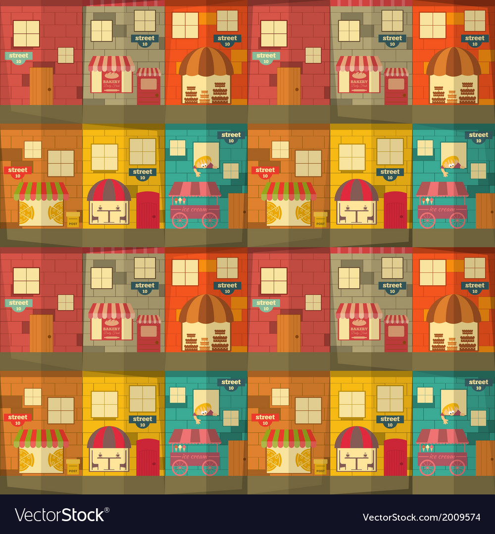 Town pattern vector | Price: 1 Credit (USD $1)