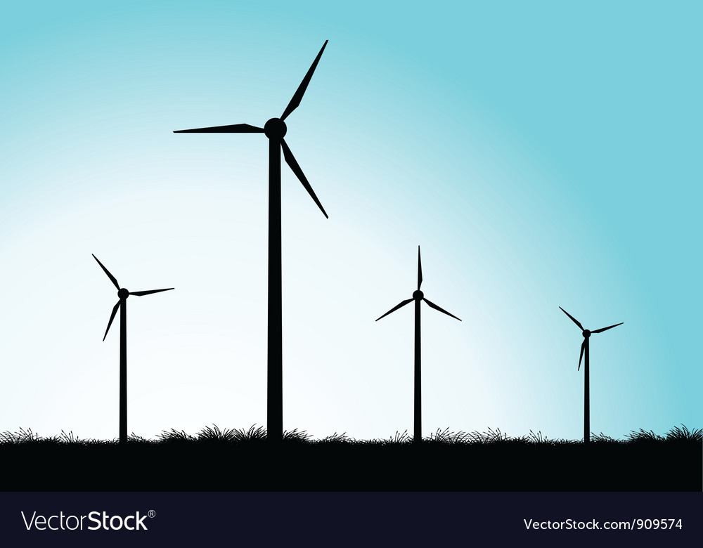 Windmills vector | Price: 1 Credit (USD $1)