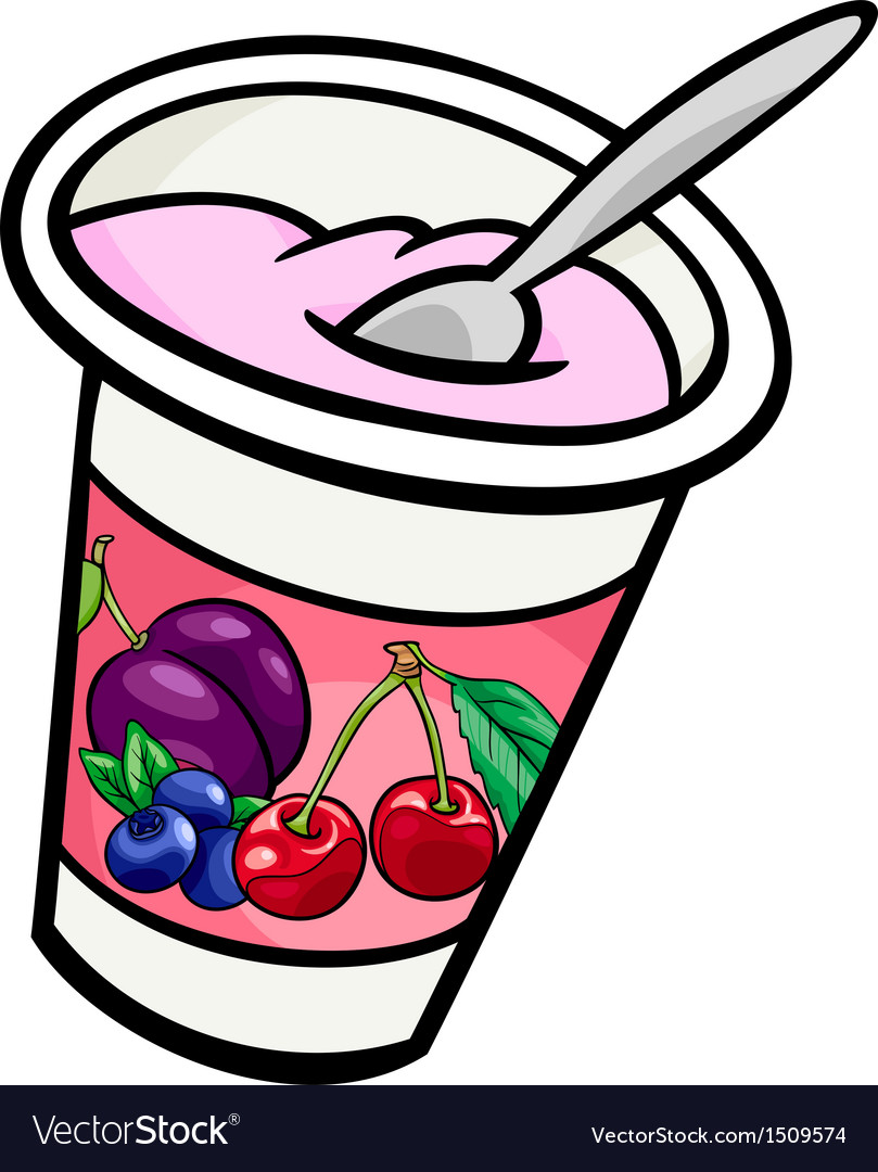 Yogurt clip art cartoon vector | Price: 1 Credit (USD $1)