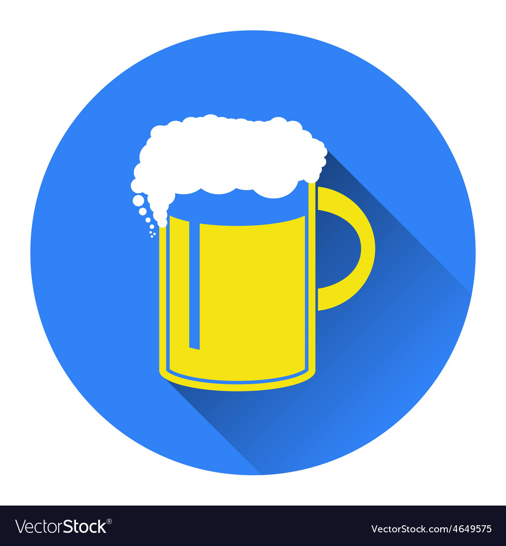 Beer in mug icon flat vector | Price: 1 Credit (USD $1)