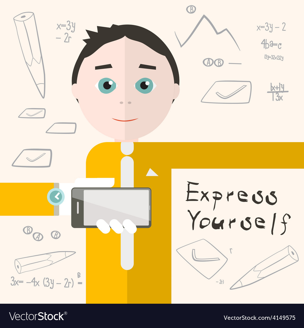 Express yourself with man - student or busin vector | Price: 1 Credit (USD $1)