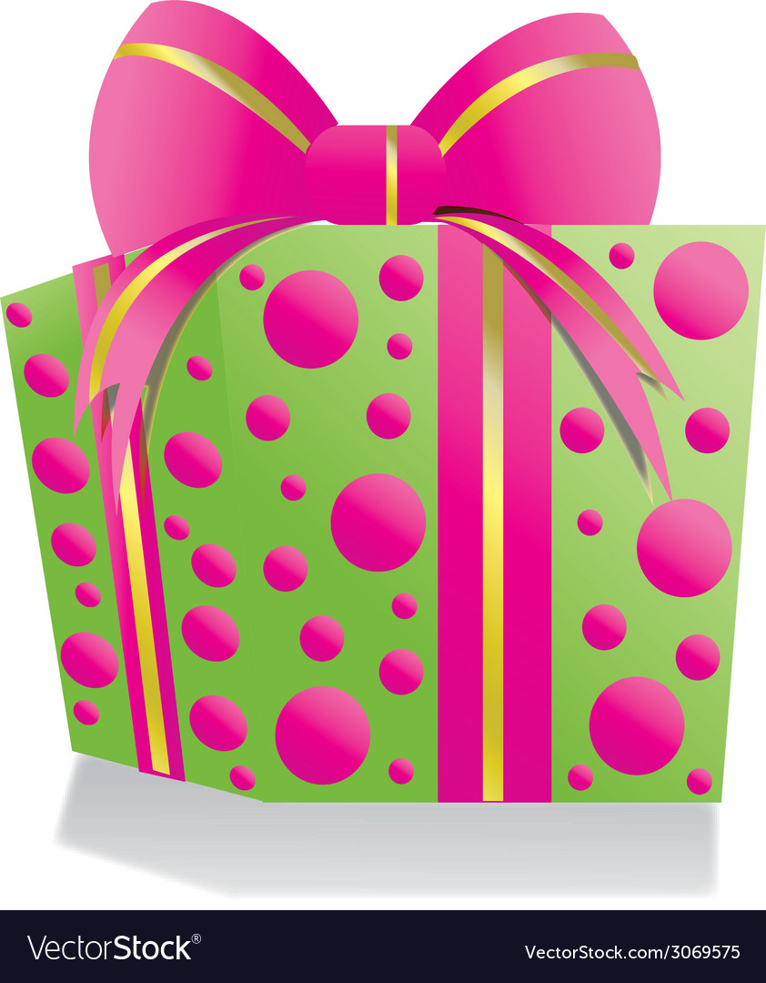 Giftbox pinkgreen vector | Price: 1 Credit (USD $1)