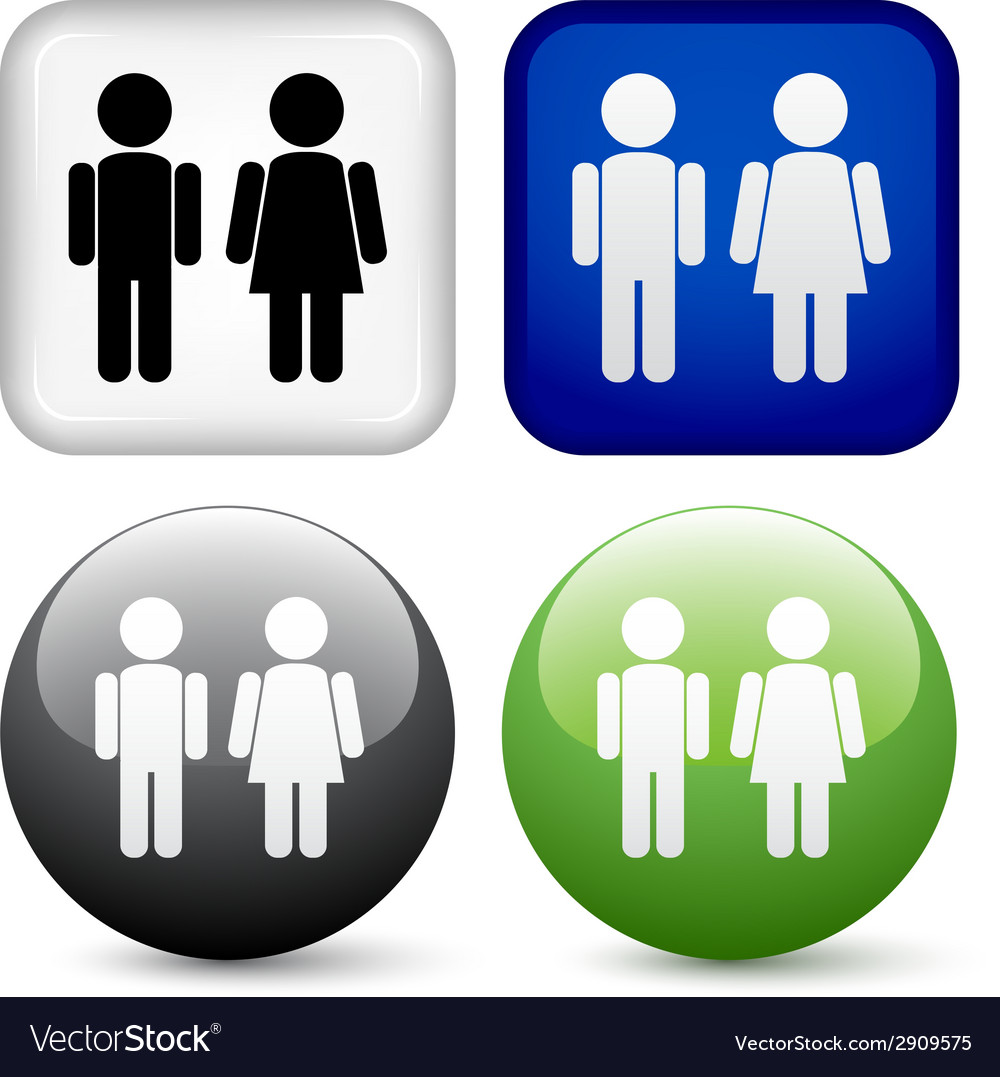 Male female buttons vector | Price: 1 Credit (USD $1)
