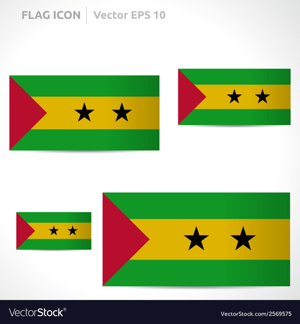 Sao tome and principe flag template vector | Price: 1 Credit (USD $1)